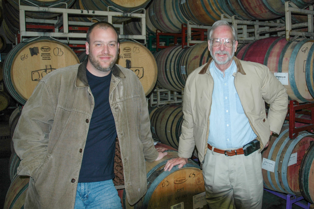 John and Joe in the cellar, circa 2006