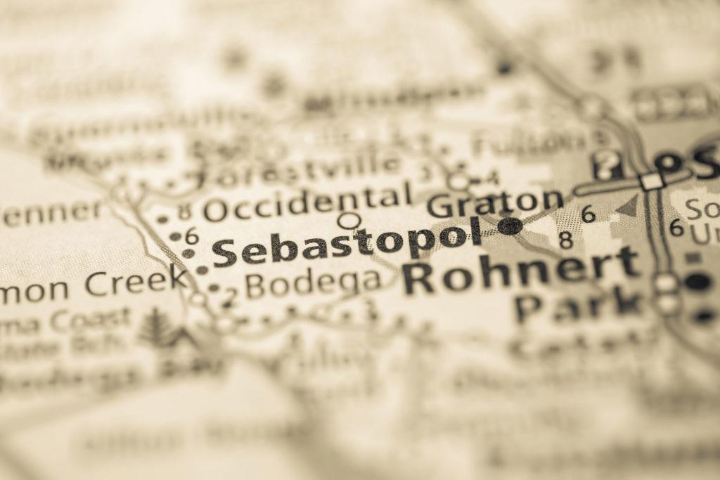 Map of Sebastopol